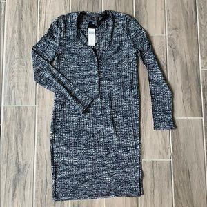 NWT BCBG Blue Heather Tunic size S